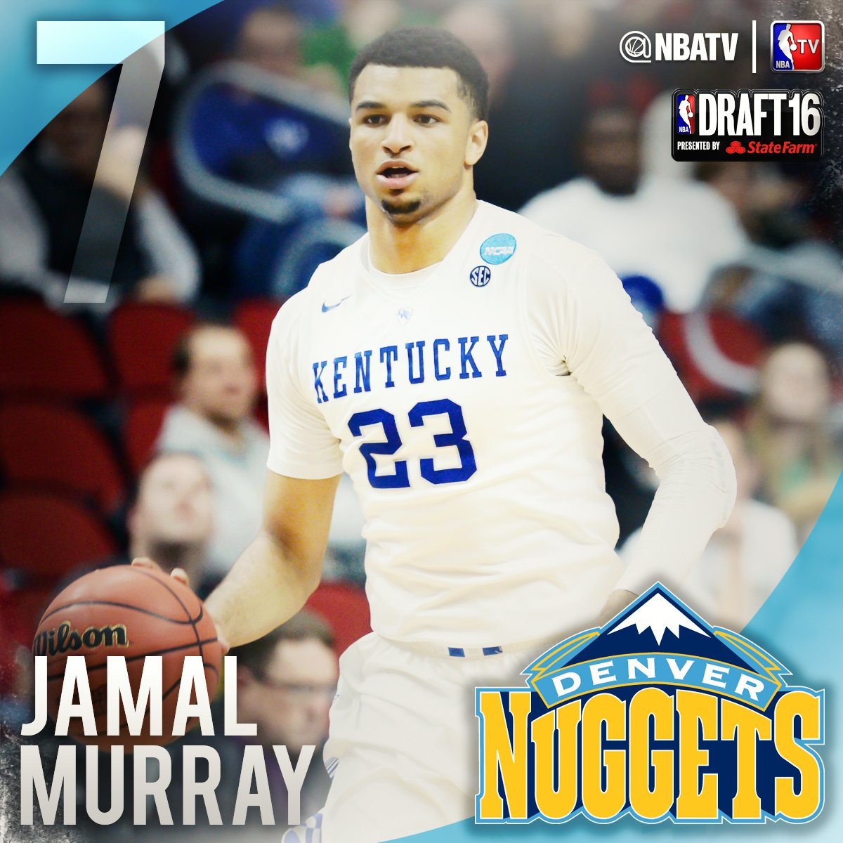 "Jamal Murray: NBA TV On Twitter: ""The #7 Pick In The 2016 #NBADraft Is"