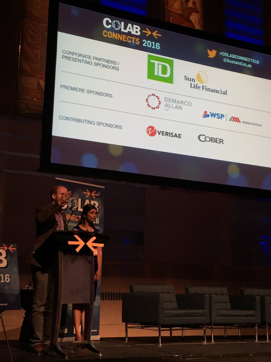 Pleased that @DeMarcoAllan is a sponsor for tonight's #CoLabConnects16. Thanks to  @CoLabMike and @SustainCoLab team https://t.co/qQB0NKHoXi