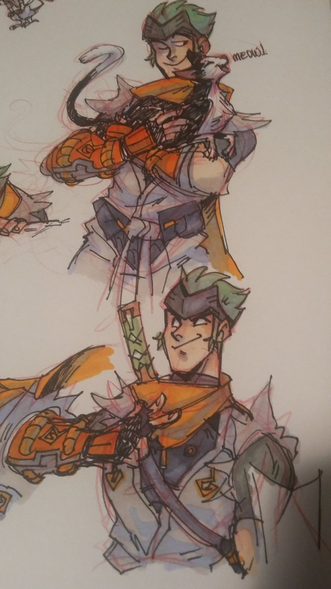 An excuse to draw my hubby in this weeb version. Did you know orange and green are both my favorite colors? :P
