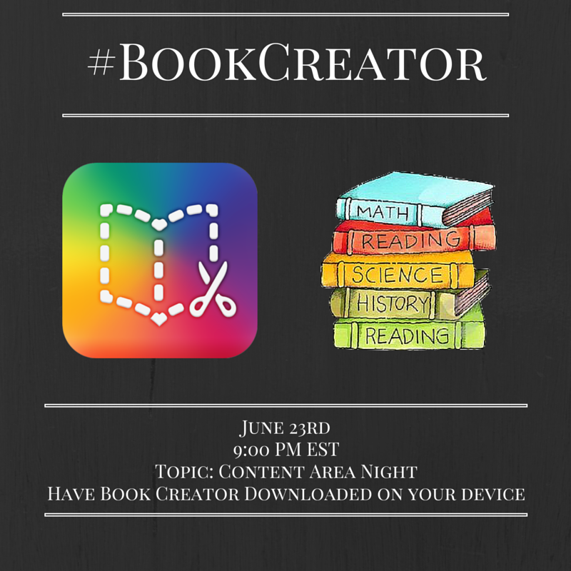 Thumbnail for #BookCreator Chat 6/23/2016