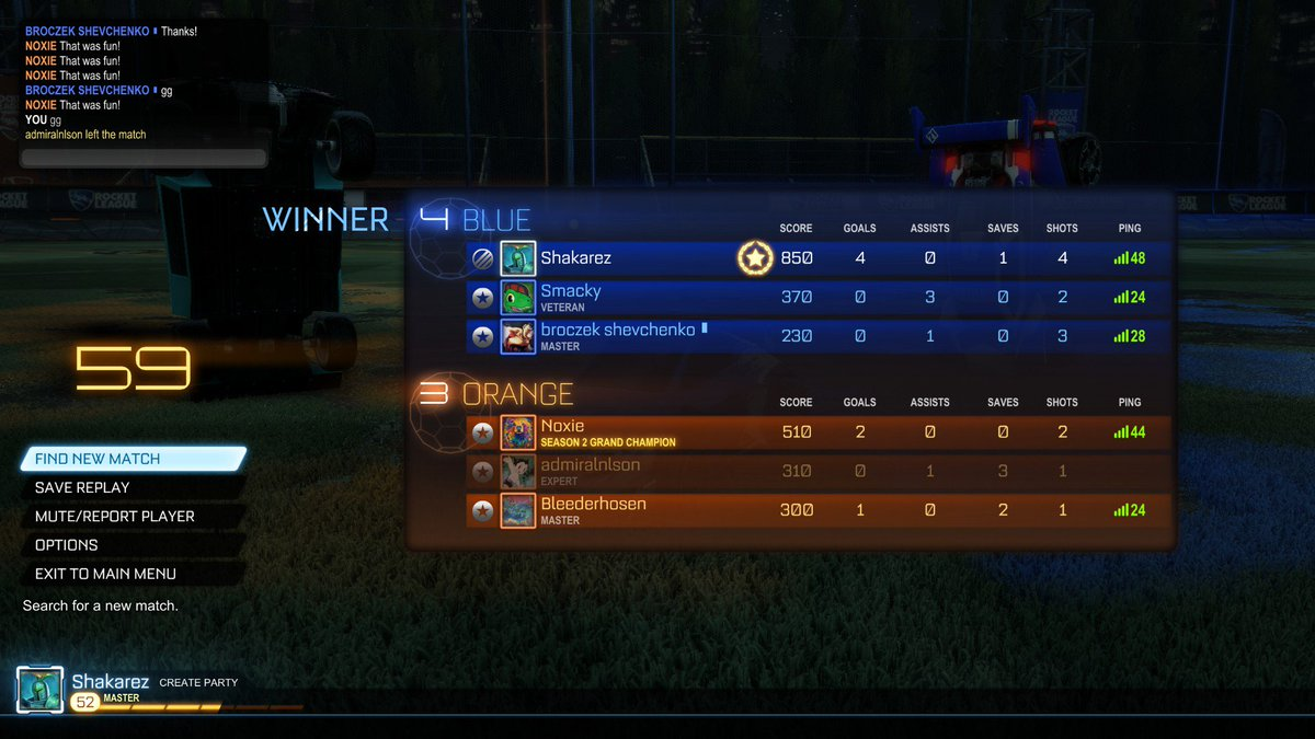 Shakarez On Twitter Rankings Are So Messed Up In Rocket League