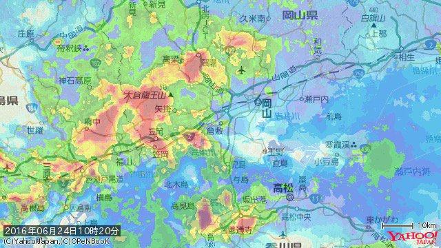 マジすか…豪雨予報 岡山県倉敷市 非常に激しい雨(56mm/h)(10時20分) https://t.co/MChncD2XMv #防災速報 アプリ→https://t.co/pyXGsPIVCJ https://t.co/wpaRmT7u21