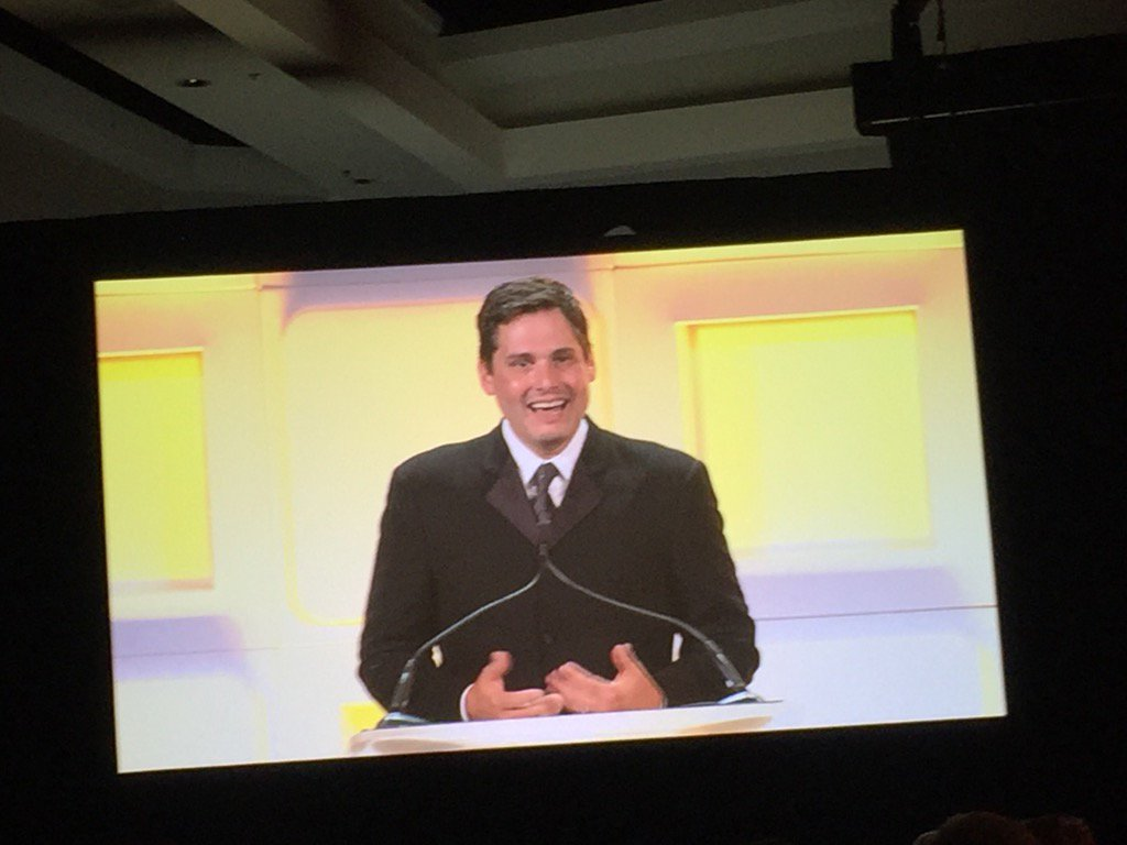 Congrats @fuze and @stevekokinos for #EOYNE -- Entrepreneur of the Year. He remembered to thank his wife and team