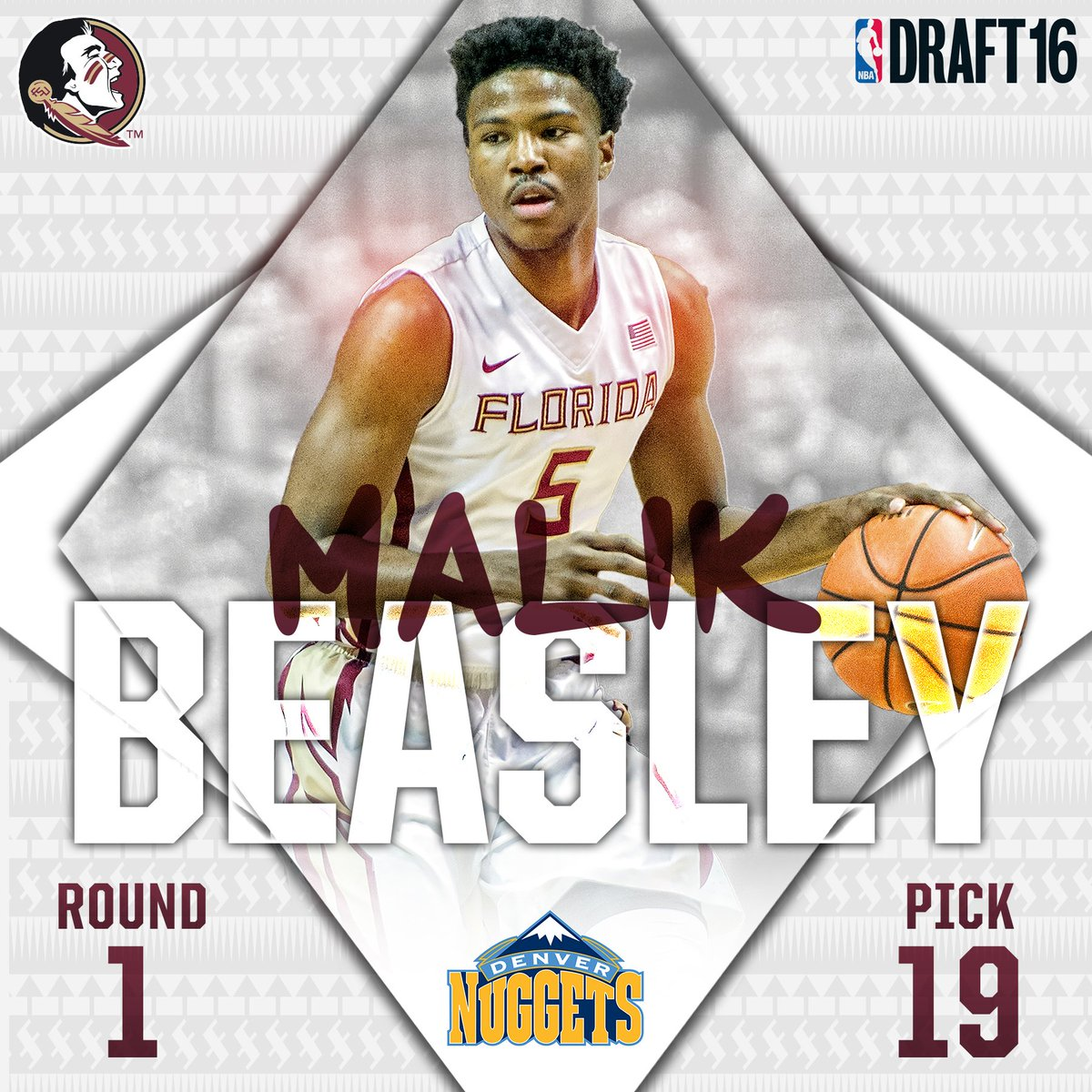 Nuggets select @Mbeasy5 with the 19th pick in the 1st round. #NBADraft2016 https://t.co/glPZISDfq9