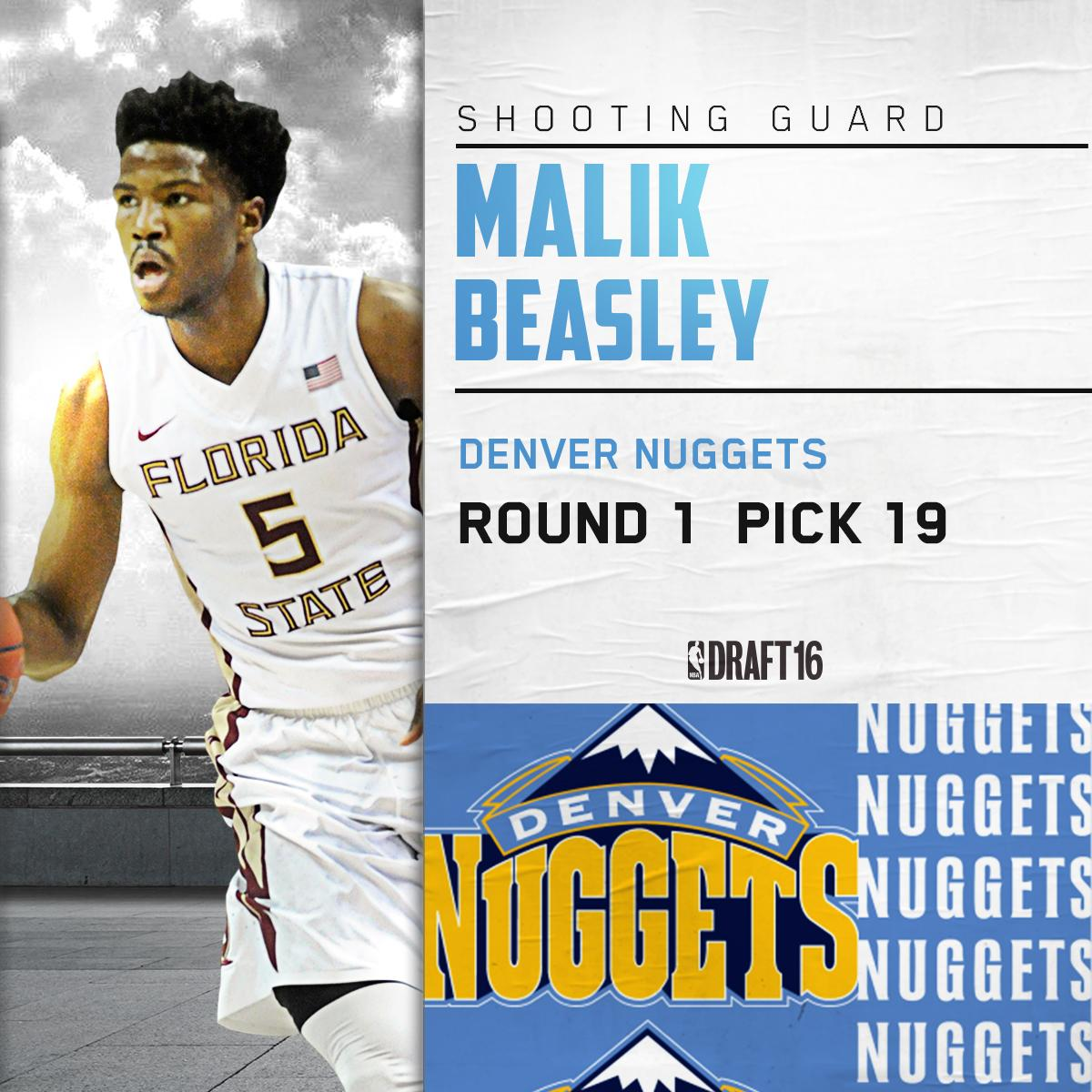 The Official Site Of The Denver Nuggets: Malik Beasley Selected By Denver Nuggets With 19th Pick