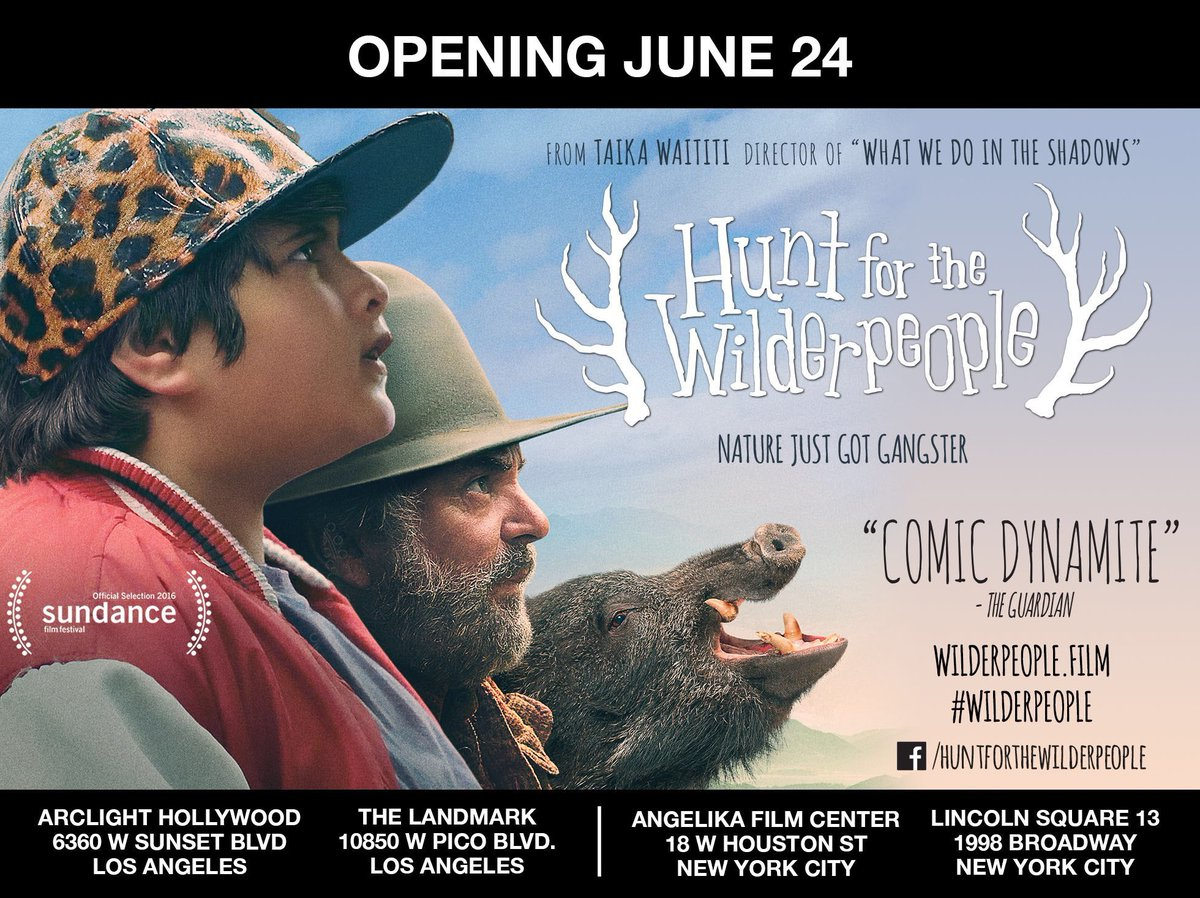 .@TaikaWaititi's Hunt for the @Wilderpeople opens TOMORROW in NY/LA. V...