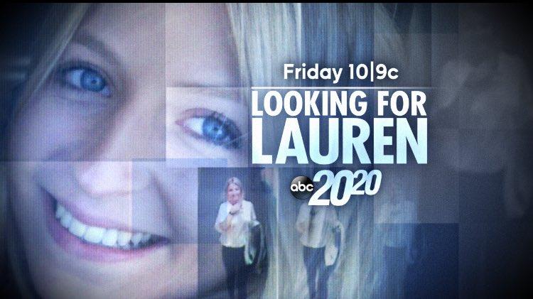 Tomorrow on @ABC2020 #FindLauren https://t.co/PCJV8K8cW6