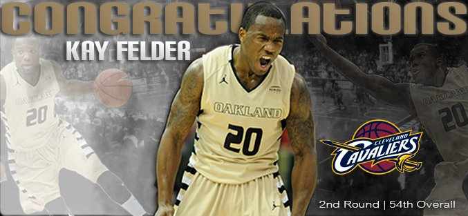 Congratulations to Kay Felder (@2kayzero) on being selected 54th overall in the 2016 #NBADraft & heading to @cavs https://t.co/AG6rMK8Bem