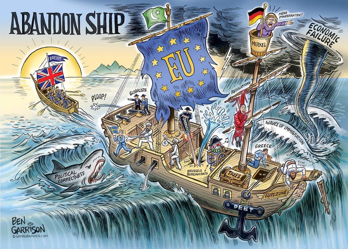 Reino Unido abandona la Unión Europea, le deja el mando a Alemania. Se vienen cambios.  #Brexit #EURefResults   https://t.co/AOsDKILIUP
