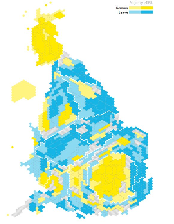 The Guardian #Brexit map:  Wales - Leave England - Leave Scotland - Remain Northern Ireland - Remain https://t.co/l5PPSFaXUQ
