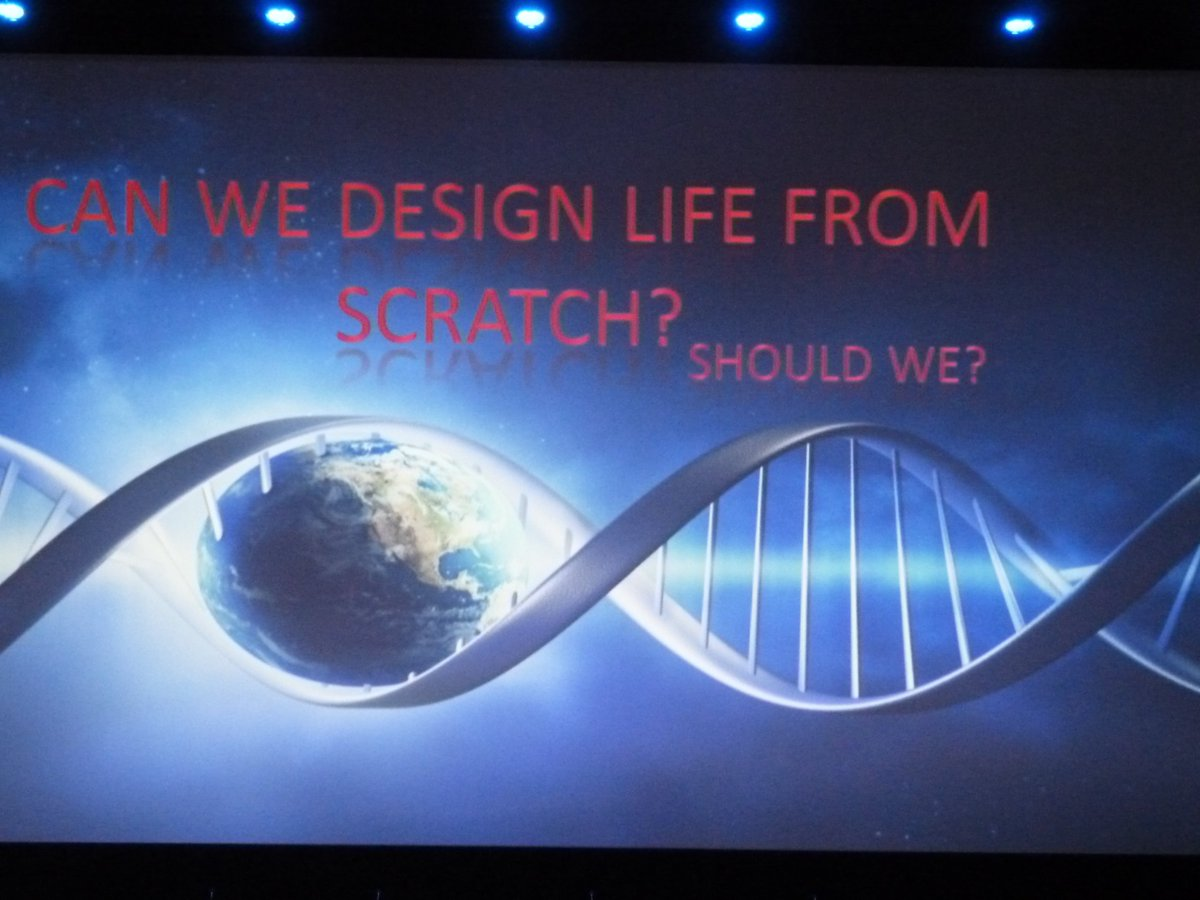 Questions raised at the #SynbioForum, part two: Can we design life from scratch? Should we? https://t.co/gDxciXuv81
