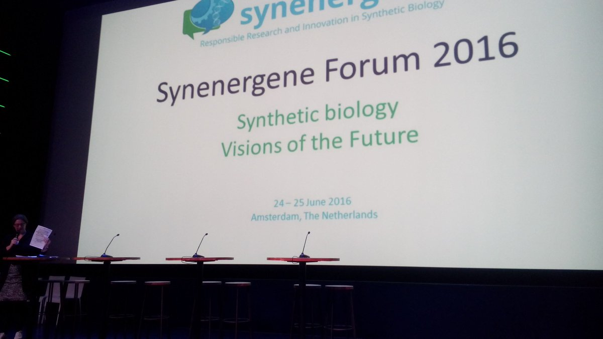 Melanie Peters from @RathenauNL opens #SynBioForum. Celebrates 30 year anniversary of our institute. https://t.co/CfhwpV8olO