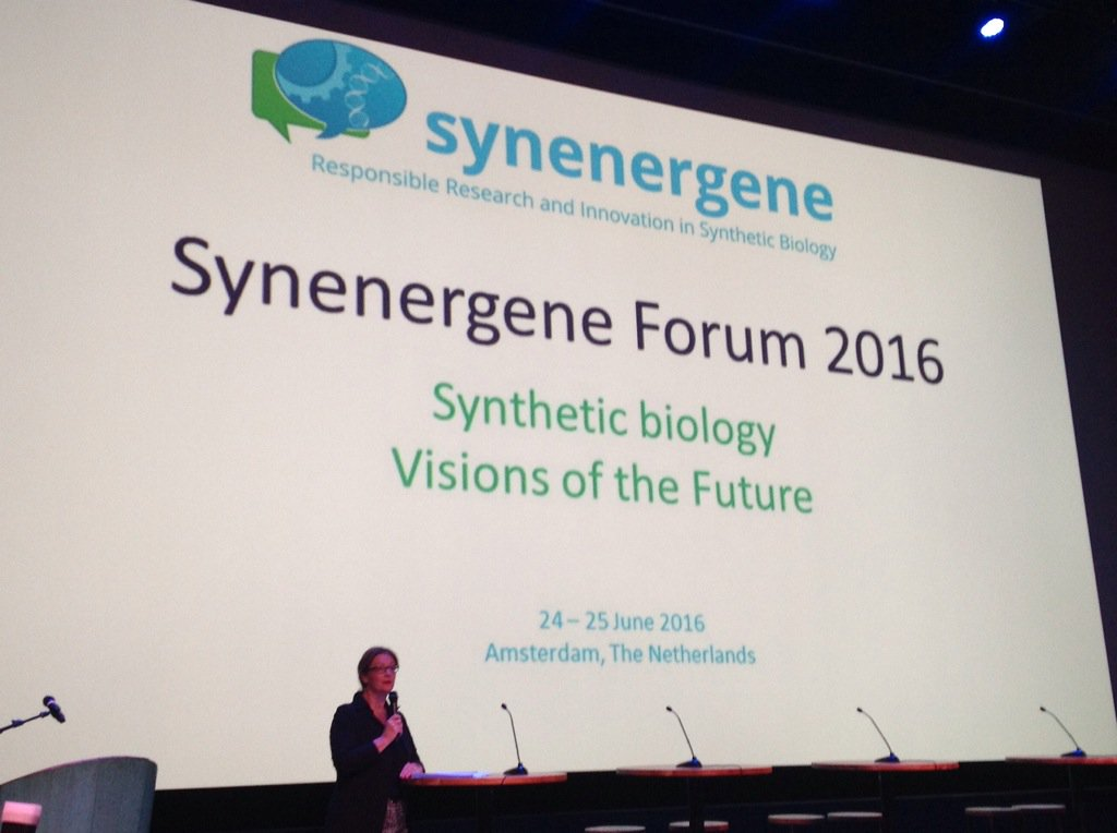 Today I'm @synenergene, soo many chances but how responsible are we irt synthetic bioengineering? #SynbioForum https://t.co/J8bIYyATiZ
