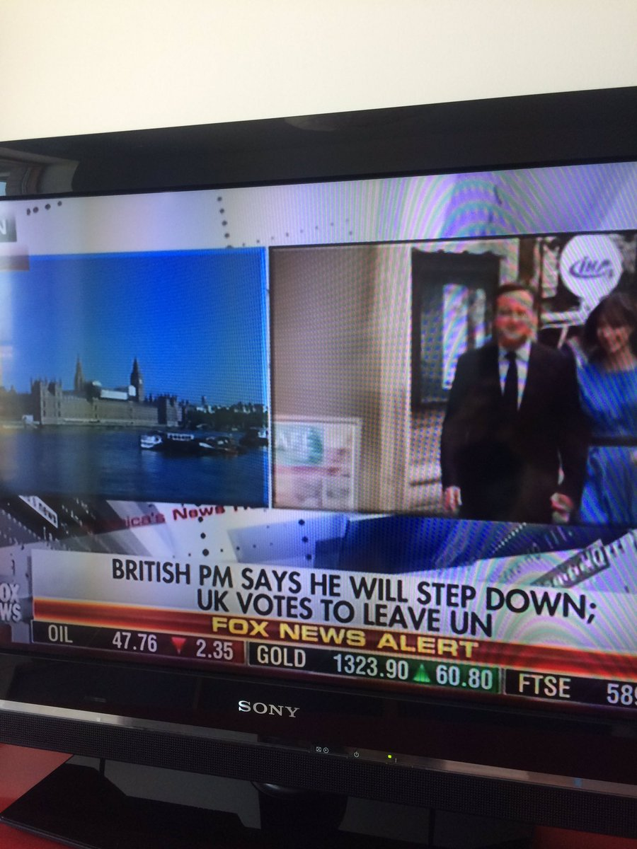 "Fox News reporting the UK has voted to leave the ""UN"" https://t.co/AGXXNb2neh"