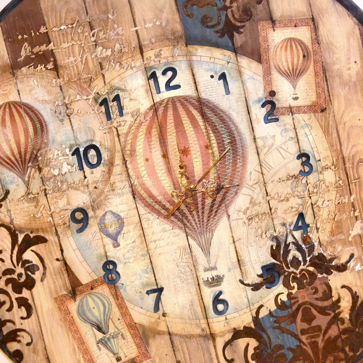 The original creation by @Antonis Tzanidakis Hot air baloon #decoupage #stencil #rusteffect #clock  get inspired