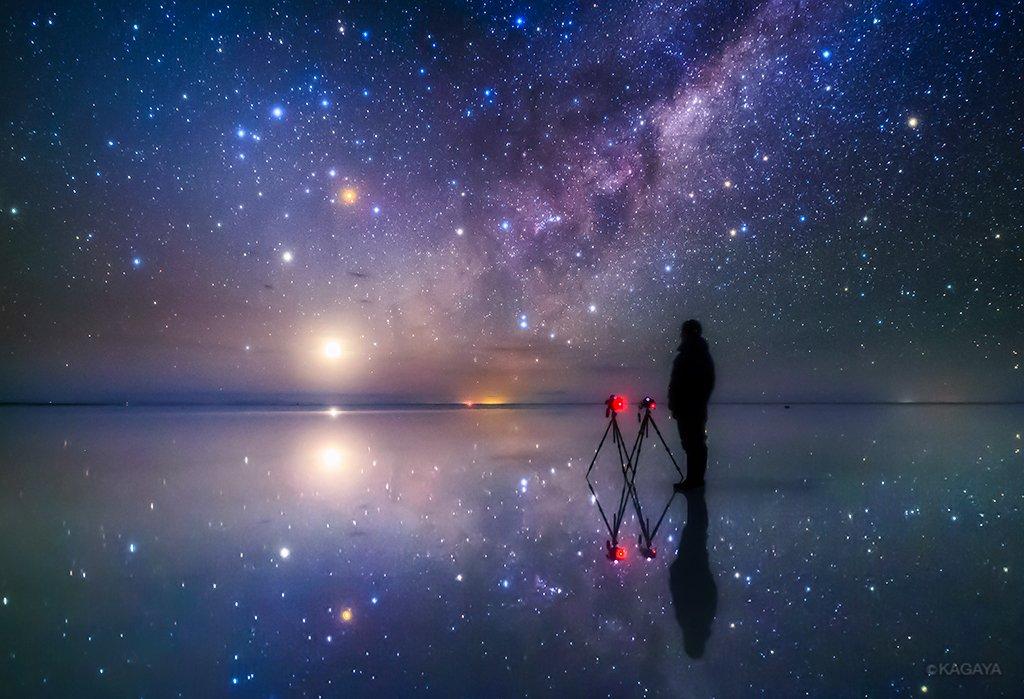 一番気に入っている自撮り写真です。(梅雨空なので過去の写真から、南米ウユニ塩湖にて撮影) pic.twitter.com/uUZHZHVm1l