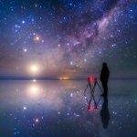星空の上に立ってるみたい♥ウユニ塩湖で撮った写真がキレイすぎて鳥肌たつ