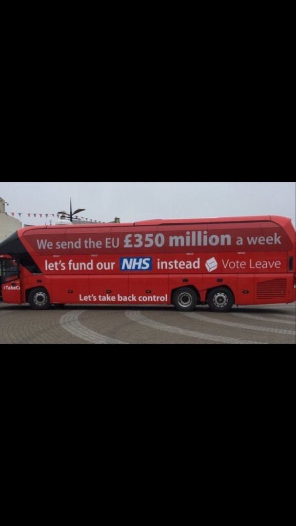 Intrigued to know where this vehicle is now. #MistakeBus #NHS #EuRef https://t.co/BYTFs2VW1n