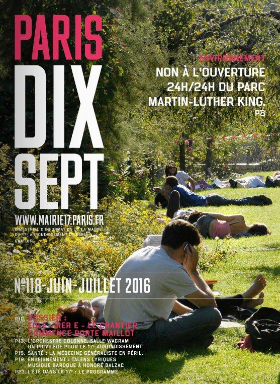 #PARISDIXSEPT #118 numéro d'été #mairie17 à découvrir   http://www. calameo.com/read/000536966 76998719e9dc  … pic.twitter.com/oIJOpoBogi