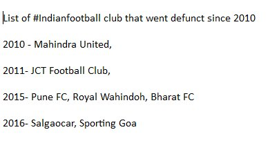 In 6 years, we have had 7 clubs shutting down. The parent body is certainly doing something great! #Indianfootball https://t.co/x9GKLJzw9j