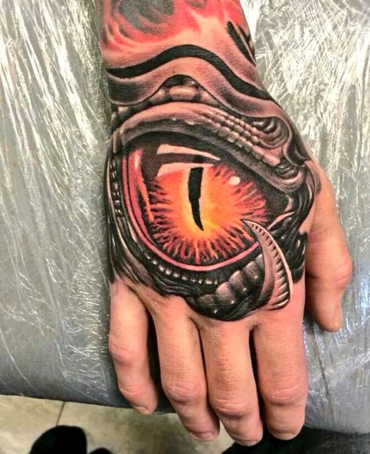 Flame tattoo asshole