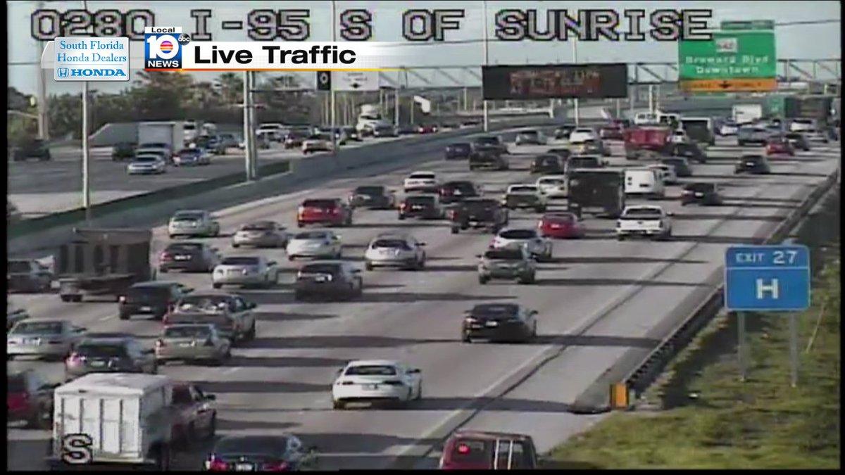 Crash on I-95 SB and Sunrise Blvd #TRAFFIC #MIAMI https://t co