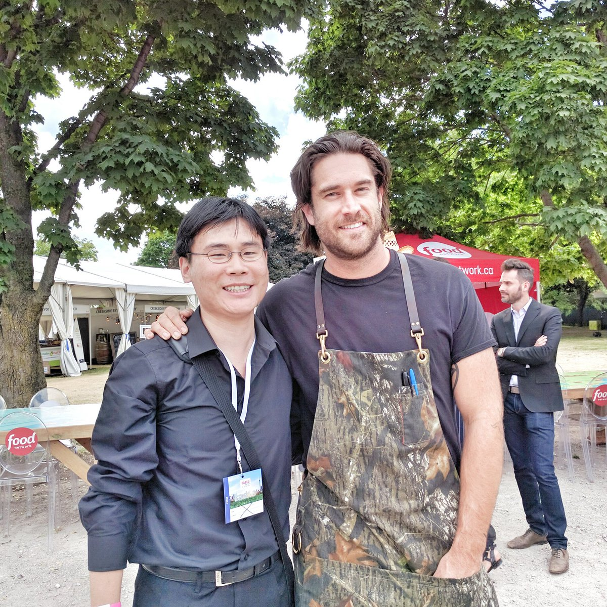 Chef Michael Hunter with Travelling Foodie at Taste of Toronto Festival