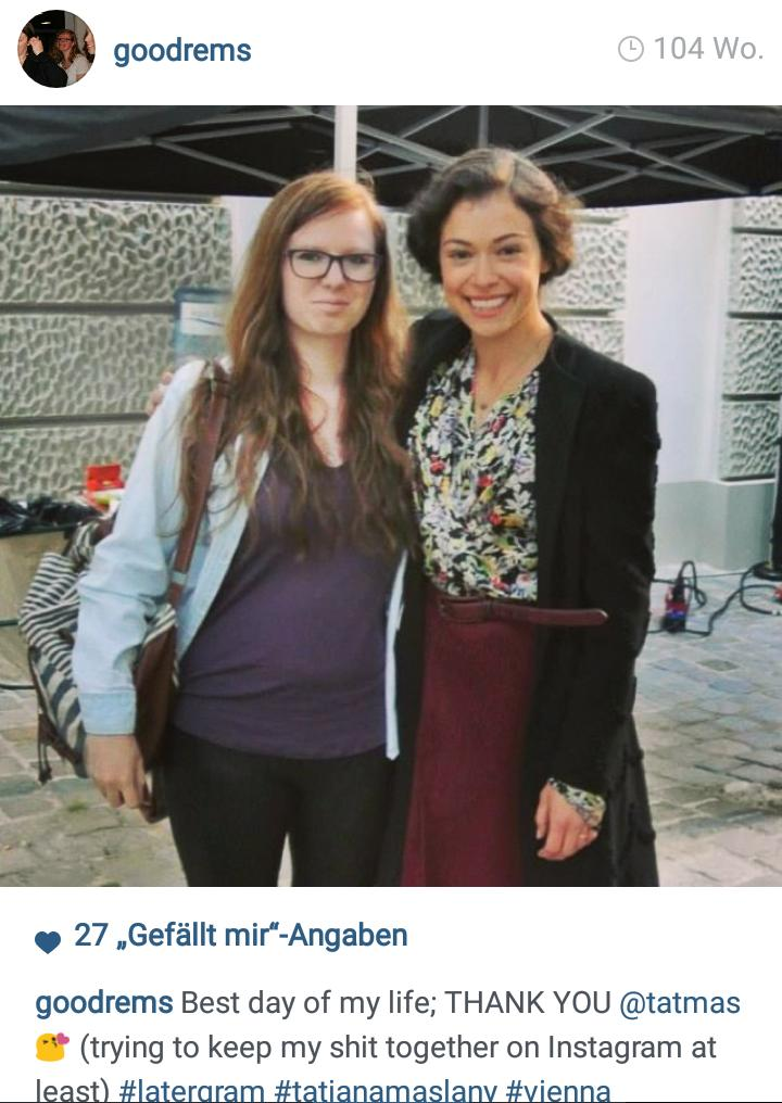 TWO YEARS AGO THIS HAPPENED! there are still no words to describe how thankful + appreciative I am @tatianamaslany
