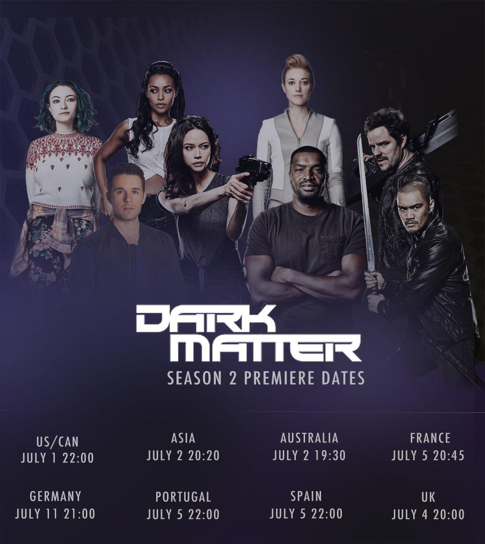 7 DAYS TO S2!! Premiere dates #DarkMatter #FanArtFriday https://t.co/AXiNVo76Vv