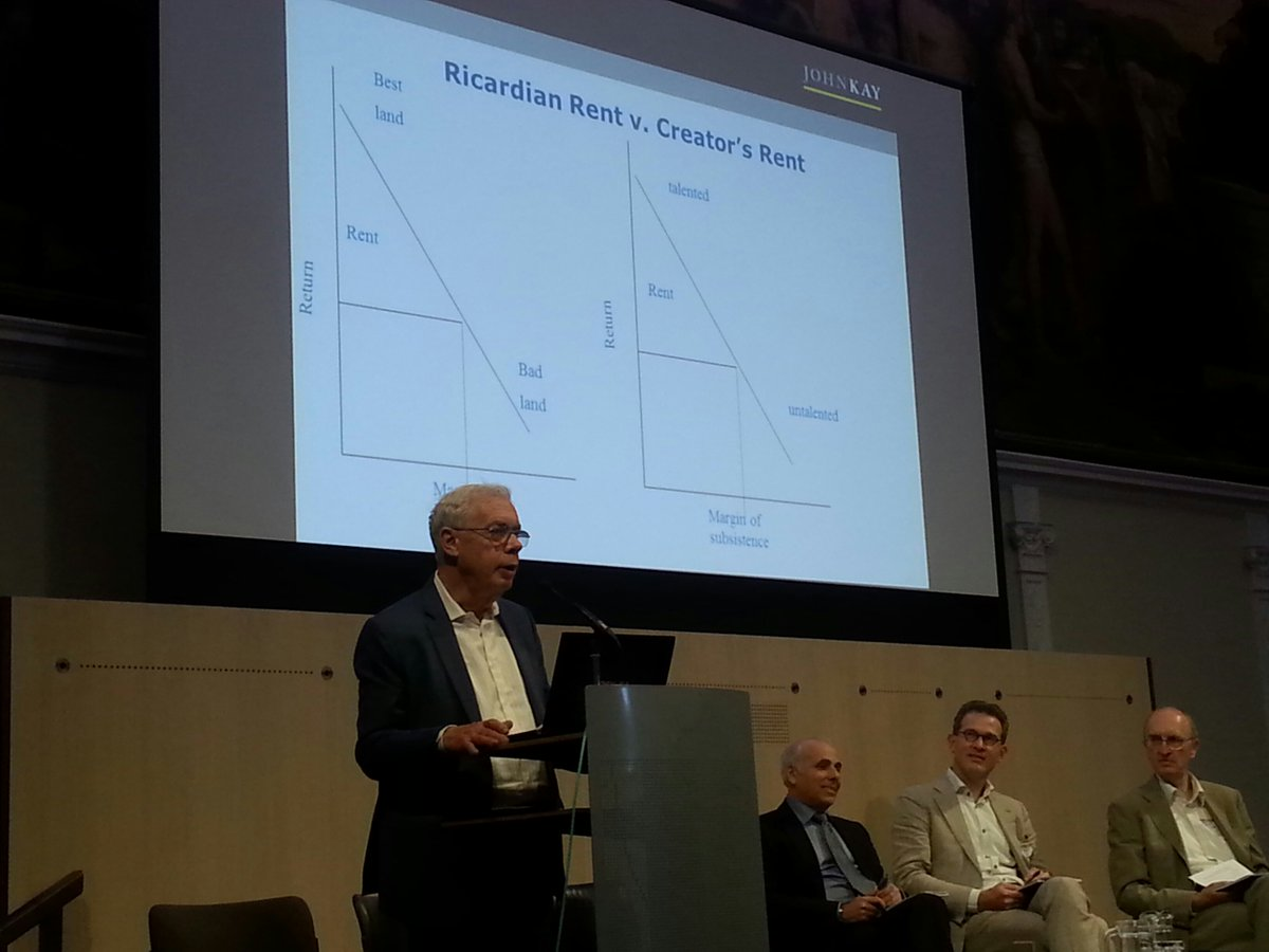 Professor John Kay adding some economics to a day of creativity and law at #createfest16 #creators'rents #graphs https://t.co/N8f7iwU6R9