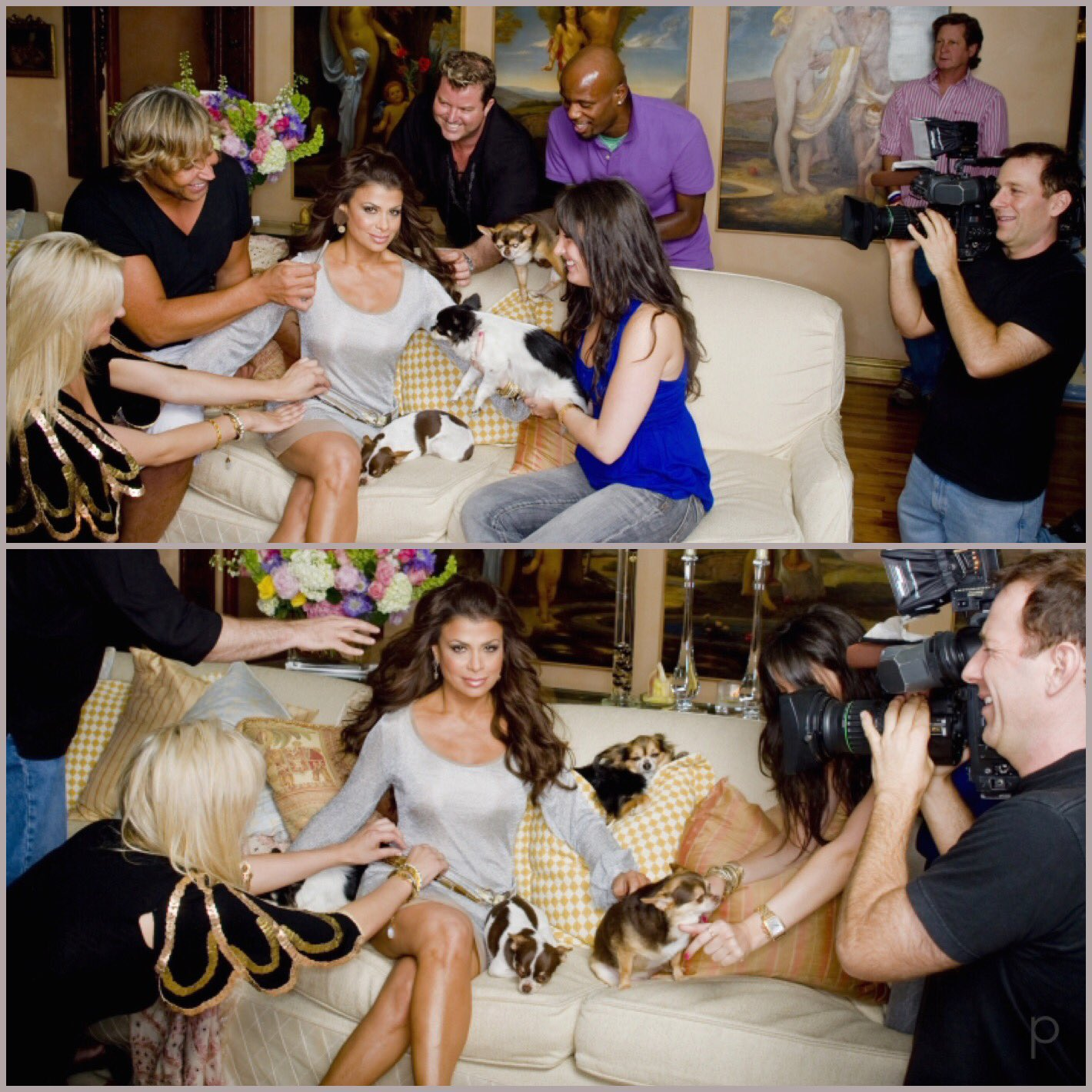 Happy #TakeYourDogToWorkDay!#FlashbackFriday to this shoot w/me & the girls! RT if u ❤️❤️❤️your 4-legged fam! xoP https://t.co/1ow4h4lMan
