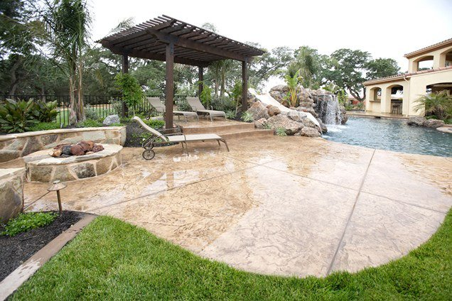 #ConcreteTip: Concrete serves as a perfect option to surround your fire pit...