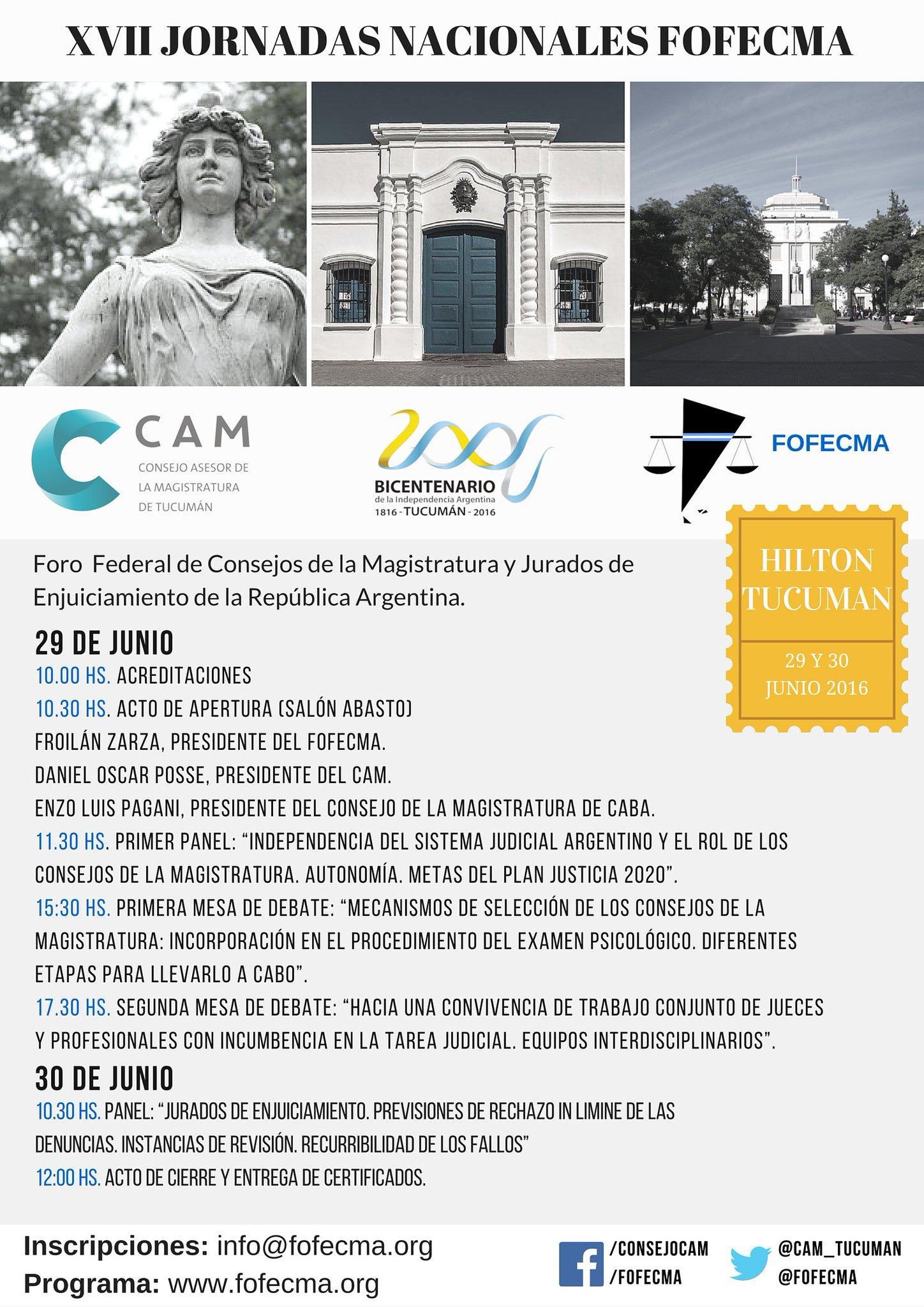 Para participar de las Jornadas @fofecma de 29 y 30/6 inscribirse en info@fofecma.org https://t.co/w0Qqxk9lI9