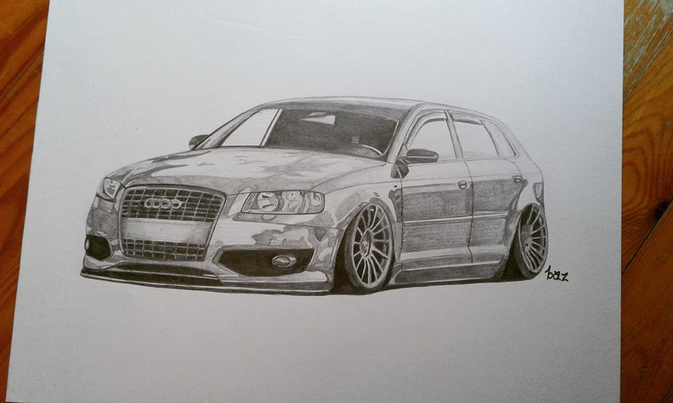 GeoBaz On Twitter My Audi S Drawing Car Drawing Art Sketch - Audi car drawing