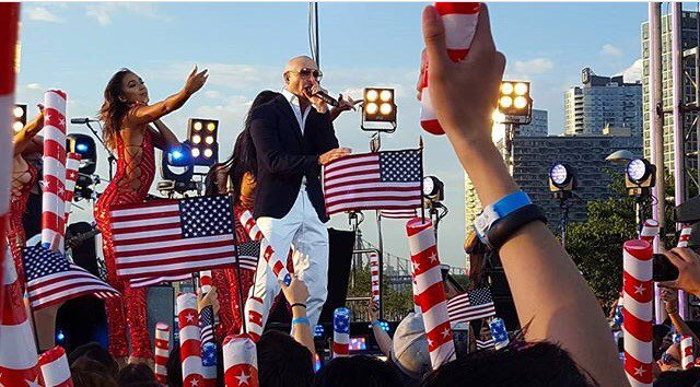 """Pitbull Updates .com on Twitter: """"Pitbull Pre-Tapes Macy's 4th of July  Fireworks Spectacular Performance https://t.co/wFEhKdRVGd… """""""