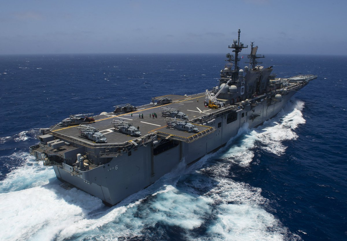 We love these photos of #USSAmerica (#LHA6) underway to #RIMPAC2016. RT if you do too! https://t.co/suRVHPGuJR