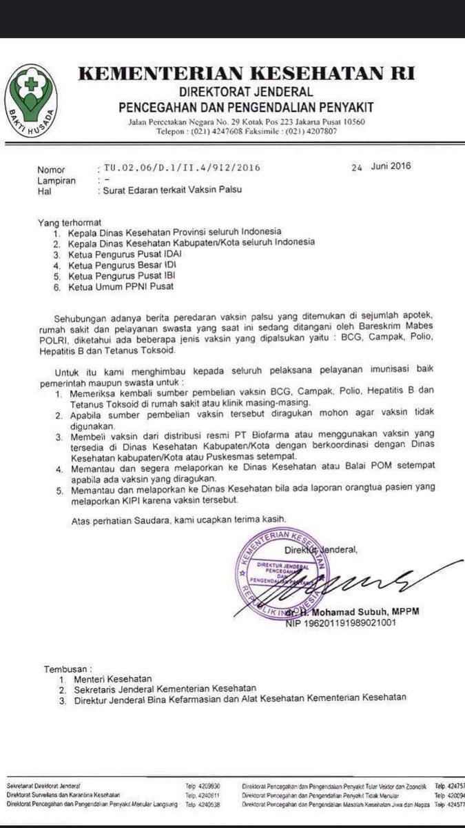 Dinkes Kota Bogor On Twitter Surat Edaran Terkait Vaksin