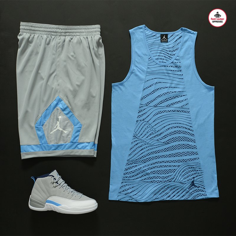 af1bd416e0661b The wolf grey  jordan 12 collection  retro 12 tank x shorts. in stores or  online.