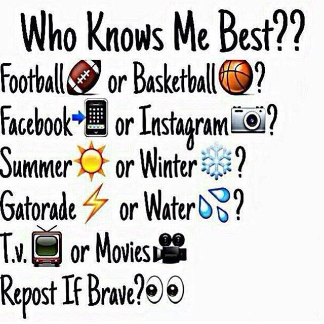 Who Knows Me Best Facebook Quiz