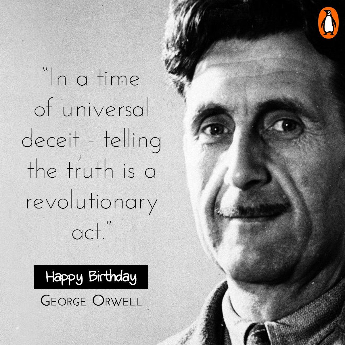 Happy birthday, George Orwell! https://t.co/gWnIPyZAIT