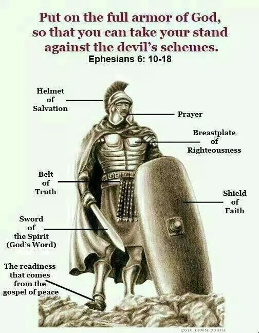 Ephesians: 6. 11. Put on the whole armour of God, that ye may be able to stand against the wiles of the devil. https://t.co/uhdayFqPG1