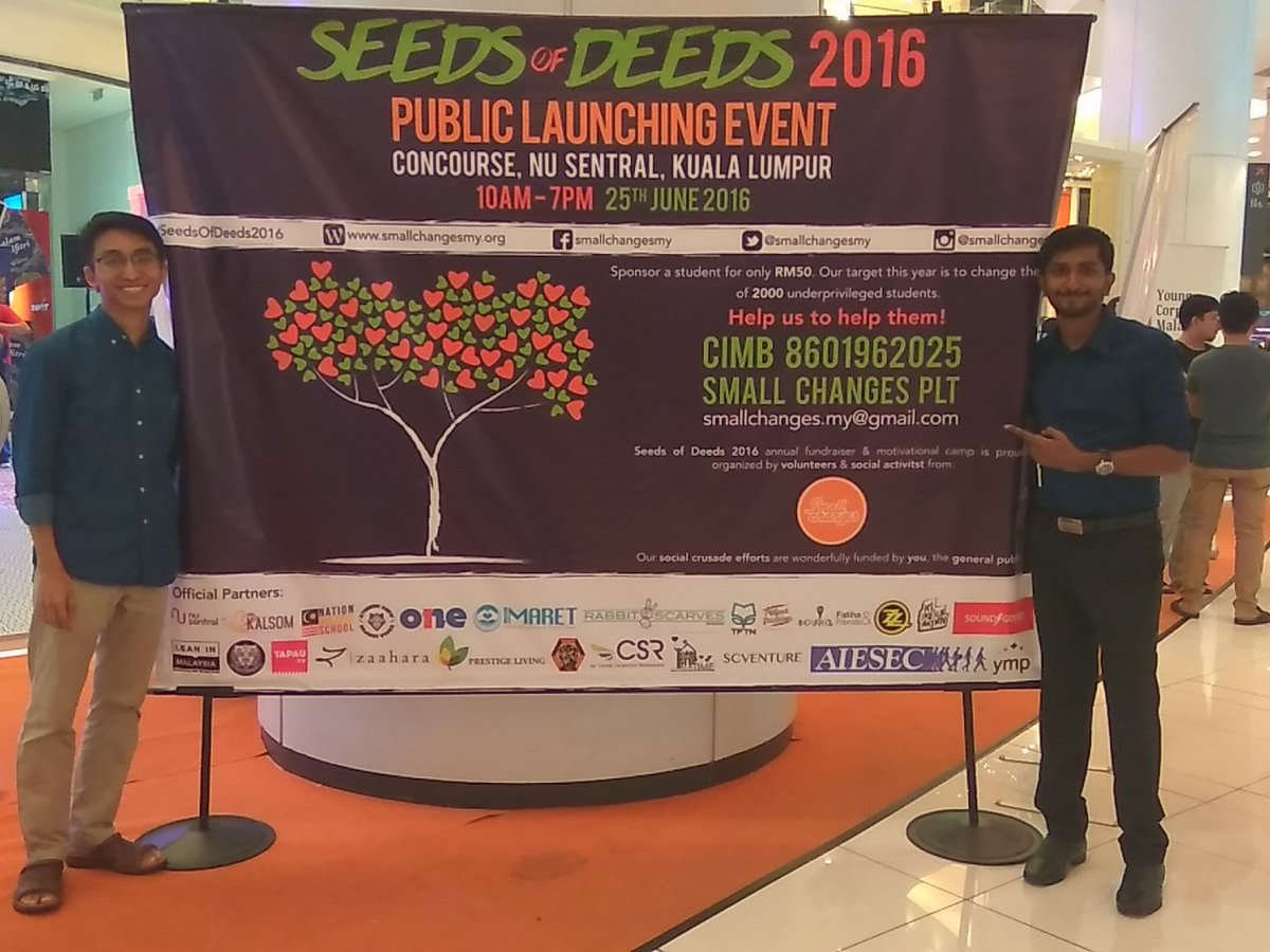 Be the change and help make a difference. Sponsor a student with Seeds of Deeds2016 #ycm #SeedsOfDeeds2016 #support https://t.co/qaidSYRhxW
