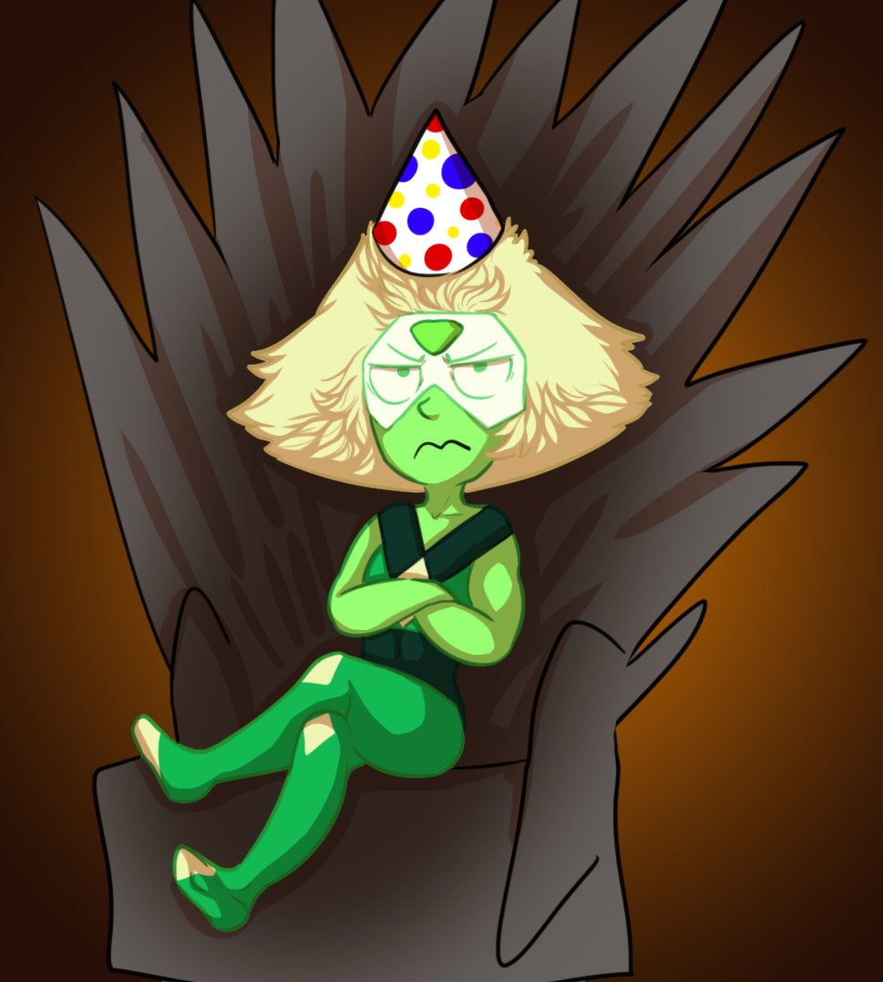 """i drew a shitty Peri on the iron throne because why not and its also @azzles birthday soon so happy early birthing"""