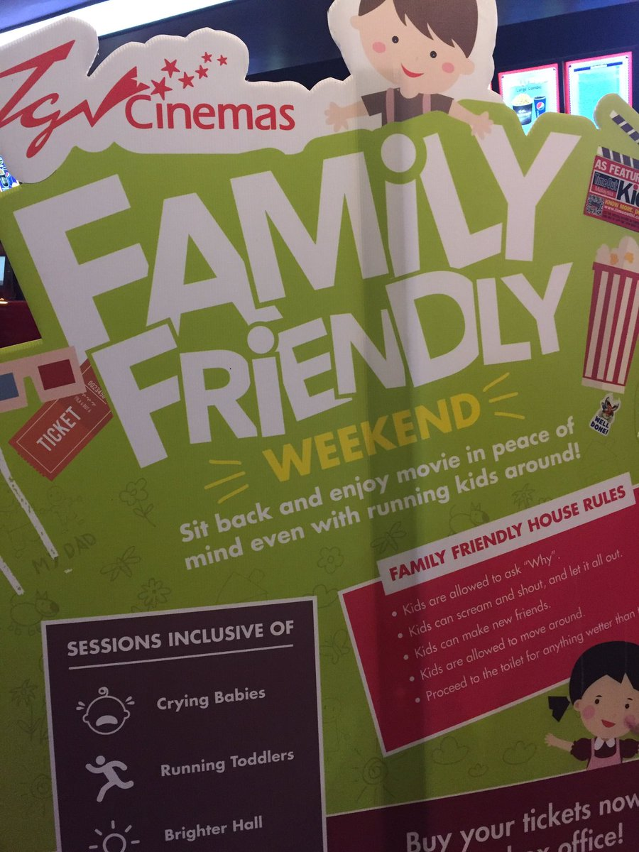 Kudos to TGV cinemas for the non-discrimination and the ability to think about current market. #familyfriendly https://t.co/Pp3Y92NEJJ