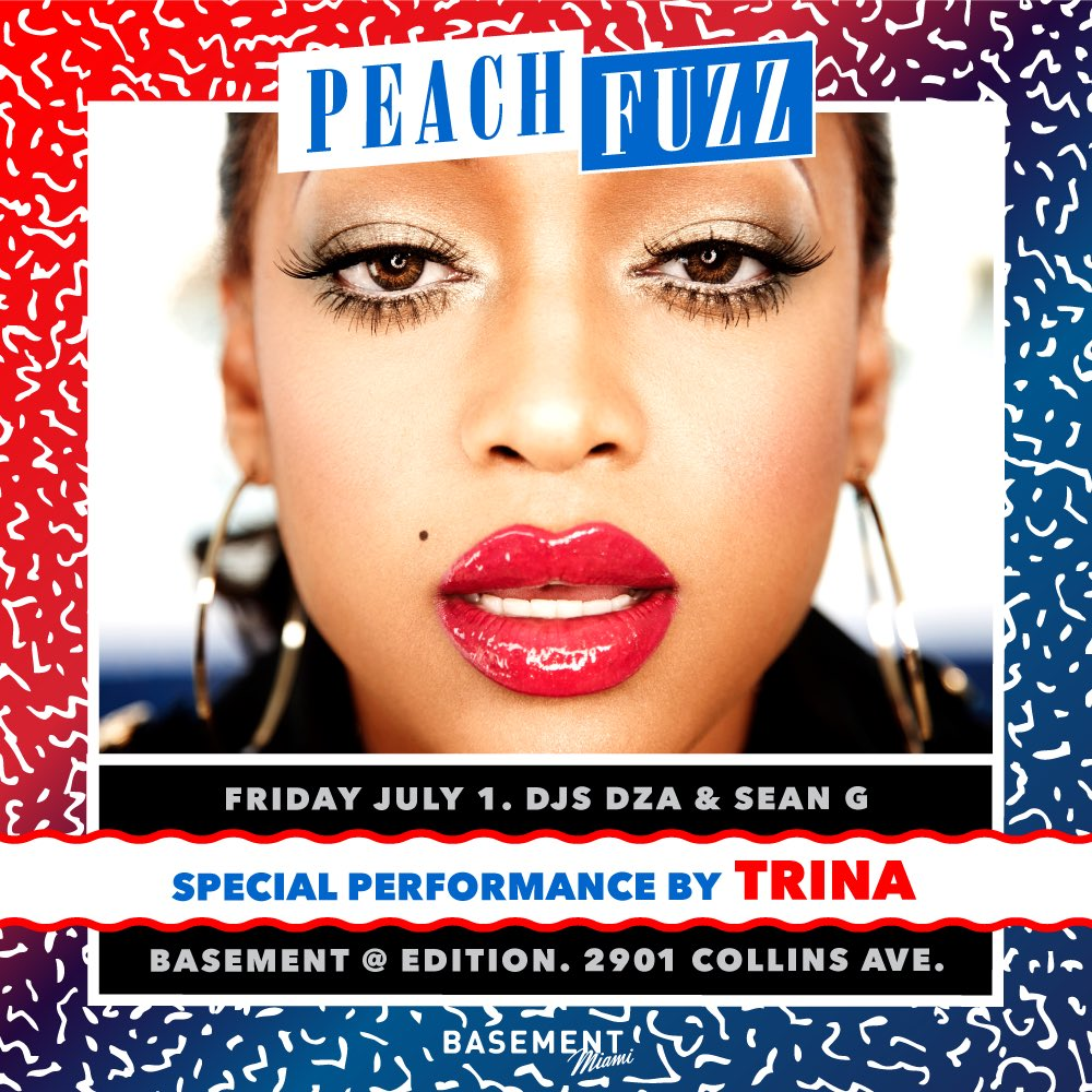 We so Miami Dawg, @TRINArockstarr  next Friday @PeachfuzzParty @BasementMIAMI https://t.co/ddjukxYnyz