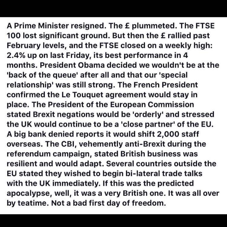 Day one of #Brexit summary https://t.co/LiDQF2r3eS