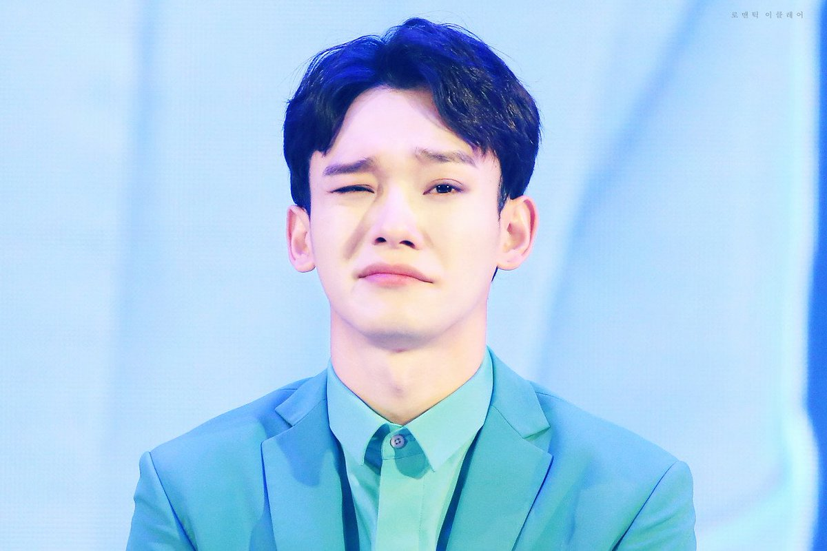 Exo Aesthetic On Twitter Chen 첸 Blizzard Blue Maya Blue