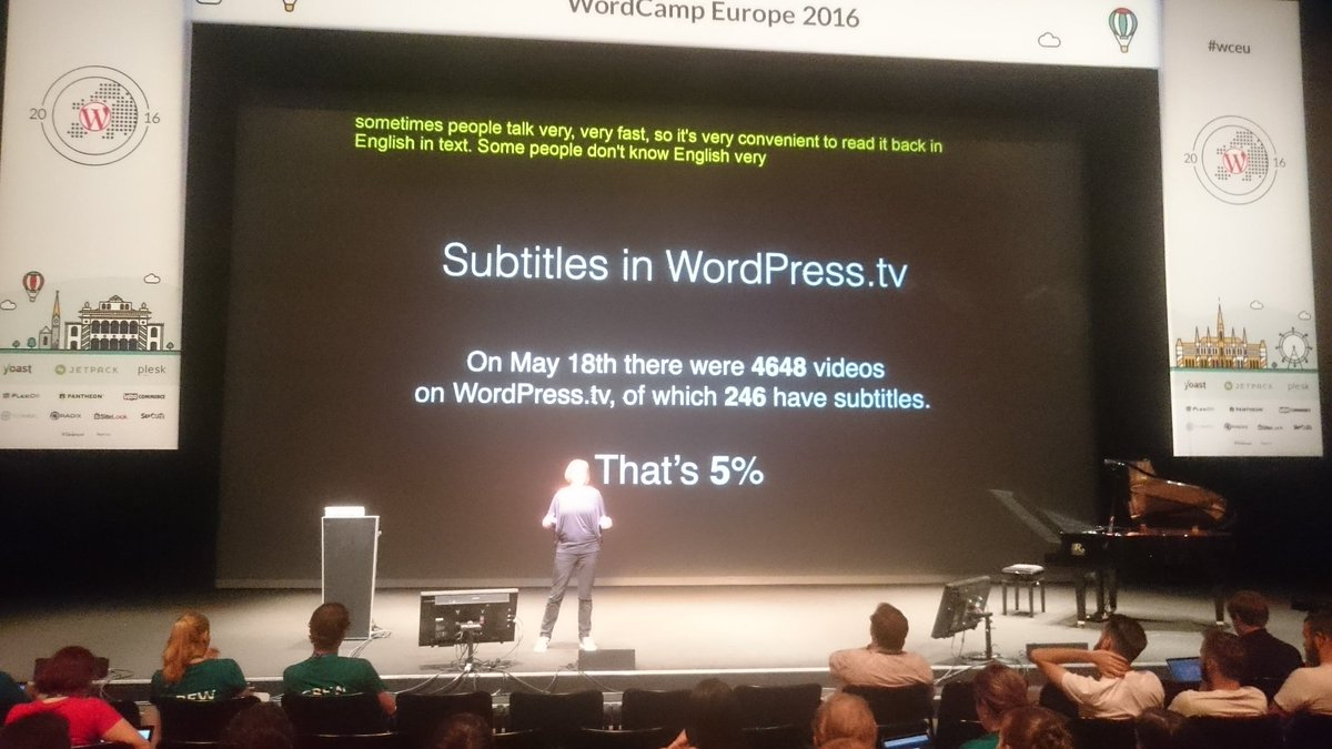 The state of subtitles on http://WordPress.tv could use some improvement.