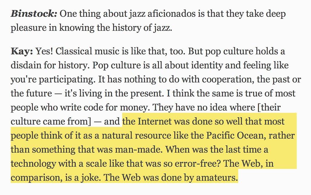 Terrific interview with Alan Kay   https://t.co/KCa3mdZoB4   ▽ https://t.co/lHyWEdaTZP