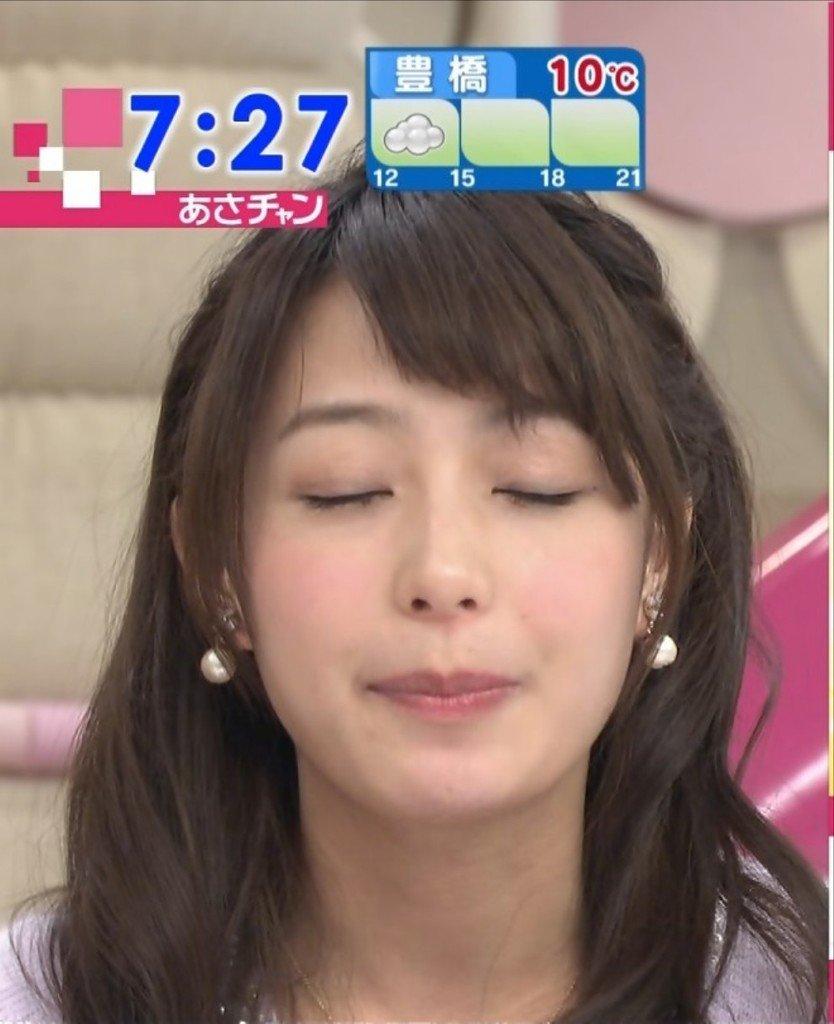 宇垣美里 via 宇垣美里アナのキス顔が一瞬映る http